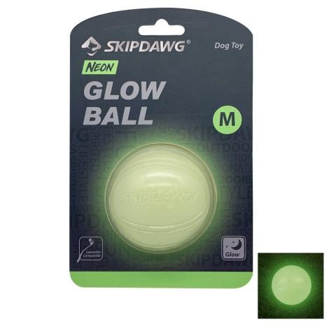 Игрушка для Собак Skipdawg Glow Ball Светонакопительный Мяч 7 см