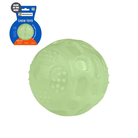 Игрушка для собак Bronzedog GLOW светонакопительная Мячик 7,5 см