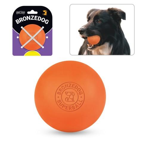 Игрушка для собак Bronzedog Superball 6 см оранжевый