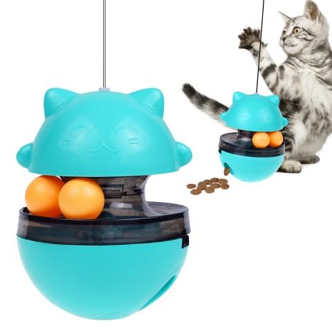 """Игрушка-кормушка для котов Bronzedog PetFun """"Трек с мячиками"""""""