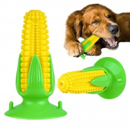 Игрушка для собак Bronzedog PetFun Кукуруза на Присоске с Пищалкой 16 х 9 см