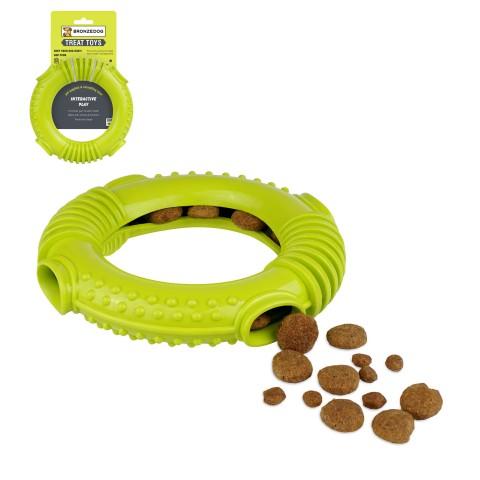 Игрушка для собак Bronzedog SMART мотивационная Ринг 16 х 3 см салатовый