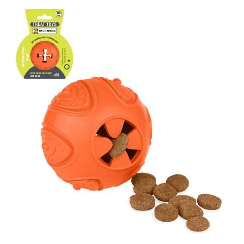 Игрушка для собак Bronzedog SMART мотивационная Мяч 7 х 9 см оранжевый