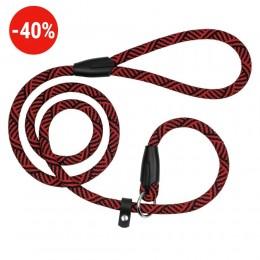Поводок-Удавка для Собак Bronzedog Active из Альпинистского Шнура Черно-Красный