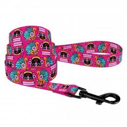 Поводок для собак Bronzedog Urban Маска нейлоновый розовый